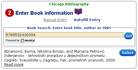 Automatsko citiranje - Chicago Bibliography